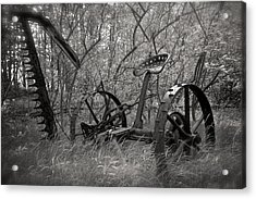 Antique Field Mower Acrylic Print by Mary Lee Dereske