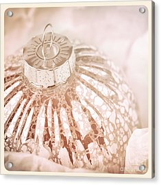 Antique Glass Christmas Tree Bauble Acrylic Print by Jane Rix