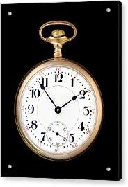 Antique Gold Pocketwatch Acrylic Print by Jim Hughes