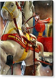 Antique Horse Cart Acrylic Print by Michelle Calkins