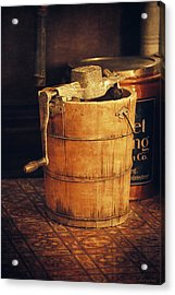 Antique Ice Cream Maker Acrylic Print by Maria Angelica Maira