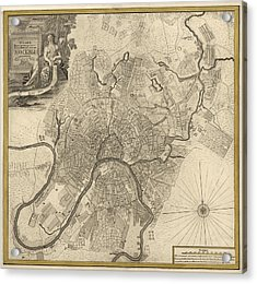 Antique Map Of Moscow Russia By Ivan Fedorovich Michurin - 1745 Acrylic Print by Blue Monocle