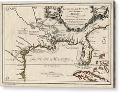 Antique Map Of The Gulf Coast And The Southeast By Nicolas De Fer - 1701 Acrylic Print by Blue Monocle