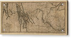 Antique Map Of The Lewis And Clark Expedition By Samuel Lewis - 1814 Acrylic Print by Blue Monocle