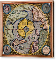 Antique Map Of The North Pole 1623 Acrylic Print by Mountain Dreams