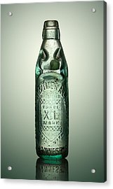Antique Mineral Glass Bottle Acrylic Print by Johan Swanepoel