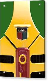 Antique Oliver Tractor Acrylic Print by Tom Mc Nemar