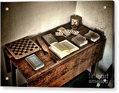 Antique Play Desk Acrylic Print by Olivier Le Queinec