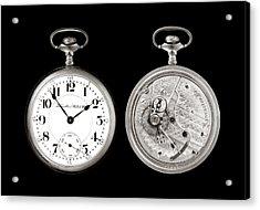 Antique Pocketwatch Acrylic Print by Jim Hughes