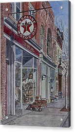 Antique Shop Beacon New York Acrylic Print by Anthony Butera
