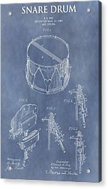 Antique Snare Drum Patent Acrylic Print by Dan Sproul