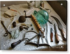 Antique Surgery Tools Acrylic Print by Olivier Le Queinec