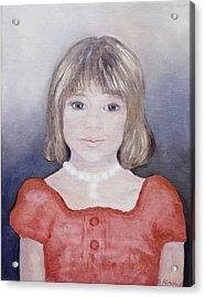 Antonia Portrait Acrylic Print by Barbara Anna Knauf