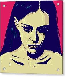 Anxiety Acrylic Print by Giuseppe Cristiano