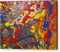 Anxious Acrylic Print by Becky Van Pelt