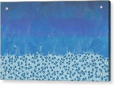 Anything But Blue Holiday Blues Acrylic Print by Lorri Crossno