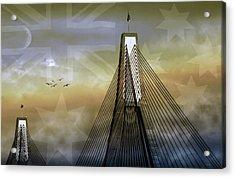 Anzac Bridge Acrylic Print by Holly Kempe