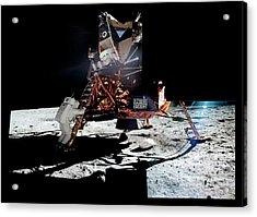 Apollo 11 Moon Landing Acrylic Print by Nasa/detlev Van Ravenswaay