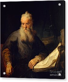 Apostle Paul Acrylic Print by Rembrandt