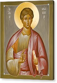 Apostle Philip Acrylic Print by Julia Bridget Hayes