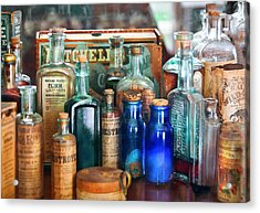 Apothecary - Remedies For The Fits Acrylic Print by Mike Savad