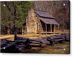 Appalachian Homestead Acrylic Print by Paul W Faust -  Impressions of Light