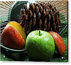 Apple Delight Acrylic Print by Camille Lopez