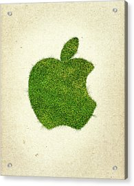 Apple Grass Logo Acrylic Print by Aged Pixel