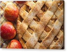 Apple Pie With Lattice Crust Acrylic Print by Diane Diederich
