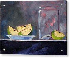 Apple Snack Acrylic Print by Nancy Merkle