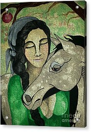 Apples And Horses Acrylic Print by Amy Sorrell