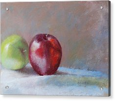Apples Acrylic Print by Nancy Stutes