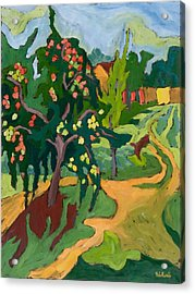 Appletree Acrylic Print by Marta Martonfi Benke
