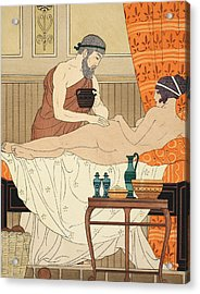 Application Of White Egyptian Perfume To The Hip Acrylic Print by Joseph Kuhn-Regnier