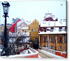 Approaching Old City Wall / Lublin Poland  Acrylic Print by Rick Todaro