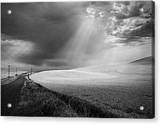 Approaching Storm Acrylic Print by Latah Trail Foundation