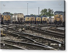 April 30 2014 - Csx Howell Yards Acrylic Print by Jim Pearson