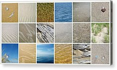 April Beach 2.0 Acrylic Print by Michelle Calkins