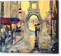 April In Paris Acrylic Print by Alan Lakin