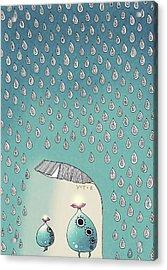 April Shower Acrylic Print by Yoyo Zhao