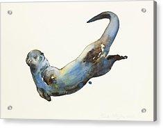 Aqua Acrylic Print by Mark Adlington