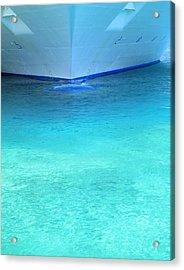 Aqua Acrylic Print by Randall Weidner