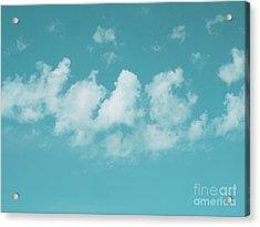 Aqua Sky Meditation Acrylic Print by Irina Wardas