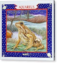 Aquarius Wc On Paper Acrylic Print by Catherine Bradbury