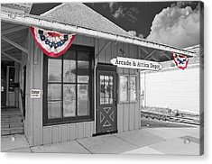 Arcade And Attica Depot Acrylic Print by Guy Whiteley