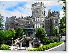 Arcadia College - Grey Towers Castle Acrylic Print by Bill Cannon