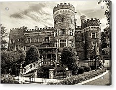Arcadia College - Grey Towers Castle In Sepia Acrylic Print by Bill Cannon