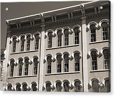 Arch Windows Black And White Acrylic Print by Dan Sproul