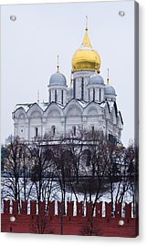 Archangel Cathedral Of Moscow Kremlin - Featured 3 Acrylic Print by Alexander Senin