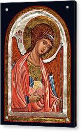 Archangel Michael Acrylic Print by Raffaella Lunelli